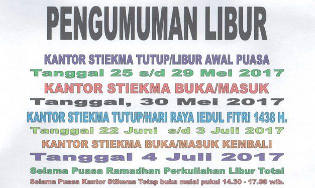 Libur Awal Puasa 2017